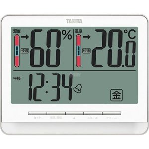 タニタ デジタル温湿度計 ホワイト TT538WH|wnet
