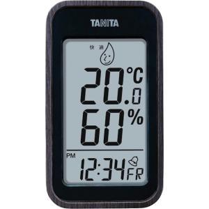 タニタ デジタル温湿度計 ブラック TT-572-BK|wnet