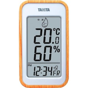 タニタ デジタル温湿度計 ナチュラル TT-572-NA|wnet