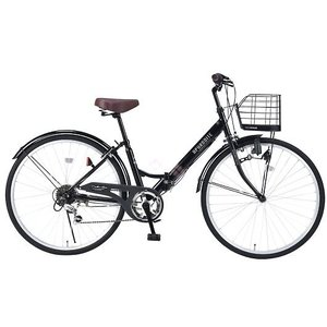 My Pallas マイパラス M-507-BK 折畳シティサイクル 26インチ 6段変速 折畳自転車 肉厚チューブ ブラック|wnet