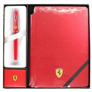 CROSS クロス フェラーリ センチュリーII ローラーボール&ノートブック ロッソコルサ ボールペン fr0085x120x2m|wnet