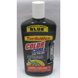処分品 Turtle WAX タートルワックス カラーキュア ブルー 473ml|wno