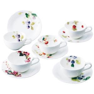 プレゼント ギフト ナルミ ルーシーガーデン アソートティー・コーヒー5客碗皿|wochigochi