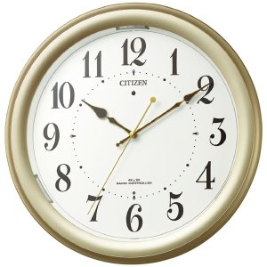 プレゼント ギフト シチズン 自動点灯電波掛時計|wochigochi