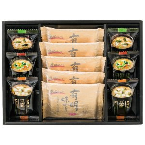 父の日 お中元 御中元 プレゼント ギフト 内祝い フリーズドライみそ汁&有明味のりセット|wochigochi
