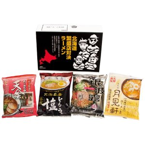 父の日 お中元 御中元 プレゼント ギフト 内祝い 北海道繁盛店対決ラーメン 4食|wochigochi