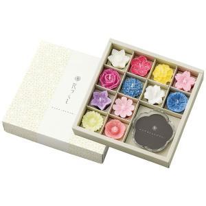 プレゼント ギフト カメヤマローソク 花型キャンドル・グラスセット(植物性) wochigochi