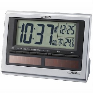敬老の日 プレゼント ギフト シチズン ソーラー電源電波目覚まし時計|wochigochi