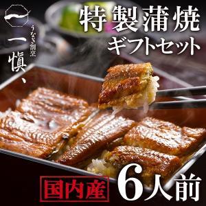 プレゼント ギフト 国産鰻 うなぎ割烹「一愼」特製蒲焼 6人前 UCI066W|wochigochi