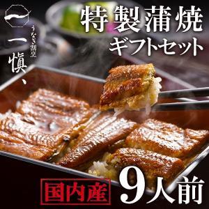 プレゼント ギフト 国産鰻 うなぎ割烹「一愼」特製蒲焼 9人前 UCI069W|wochigochi