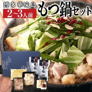 父の日 お中元 御中元 プレゼント ギフト 内祝い 博多華味鳥 もつ鍋セット 2〜3人前 HM-40UT|wochigochi