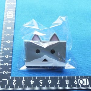 nyanbord Clip ニャンボークリップ bicolor(gray)(定形外発送可能 クレカ決済 食玩4個まで) wolffang