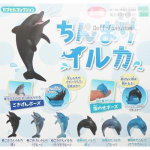 ちんまりイルカ 全6種(定形外発送可能 クレカ決済 2セットまで )|wolffang