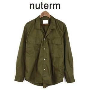 ニューターム nuterm ミリタリーポケットシャツ MILITARY POCKET SHIRTS 003SH-017W 2017AW|womanremix