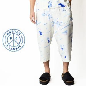 ポータークラシック Porter Classic アロハパンツ ALOHA PANTS ホワイト WHITE PC-024-676-90|womanremix