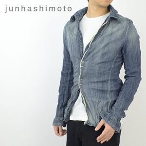 ジュンハシモト junhashimoto リンクルデニムシャツ WRINKLE DENIM SHIRTS 1060000005 2019春夏|womanremix