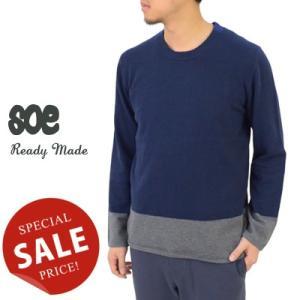 soe ソーイ Crew Neck Sweater クルーネックセーター 'TRICOLOR' 1151-10-003|womanremix