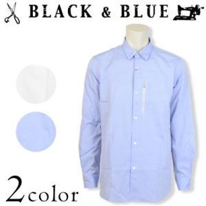BLACK & BLUE ブラックアンドブルー OX ZIPシャツ オックスフォード 116S01|womanremix