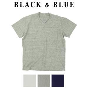 BLACK & BLUE ブラックアンドブルー × FilMelange フィルメランジェ VネックTシャツ 118T02|womanremix
