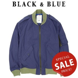 BLACK & BLUE ブラックアンドブルー FLIGHT JACKET フライトジャケット 120J01|womanremix