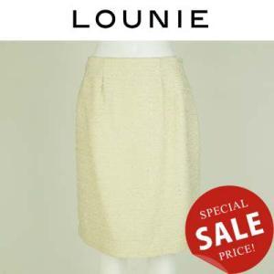 LOUNIE ルーニー ラメ混ドビーツイードスカート 12113230|womanremix