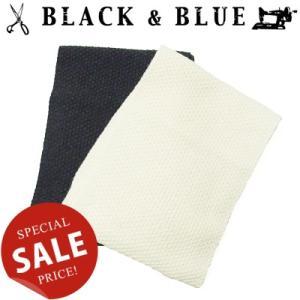 BLACK & BLUE ブラックアンドブルー HAND KNITED MAFFLER ハンドニットマフラー 121A01|womanremix