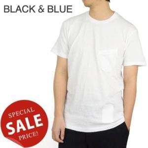 BLACK & BLUE ブラックアンドブルー Crew Neck Pocket Tee クルーネックポケットTシャツ 122T01|womanremix