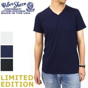 ベルバシーン Velva Sheen 限定カラー 1パック 半袖 Vネック ポケットTシャツ Limited Edition 1 PAC SS VN TEE WPK 1609202|womanremix
