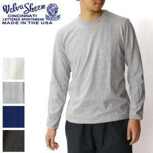 ベルバシーン Velva Sheen チューブ編みロングTシャツ TUBULER L/S TEE Tシャツ 無地 長袖 丸胴 160928|womanremix
