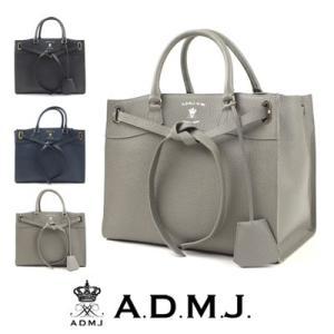 (ポイント10倍) ADMJ エーディーエムジェイ 牛革リボントートバッグ|womanremix