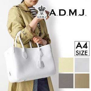 (ポイント10倍) ADMJ エーディーエムジェイ COW HIDE TOTE BAG シュリンクレザートートバッグ 18MA01001 / 18AW01026|womanremix