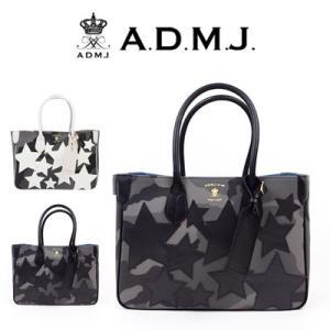 (ポイント10倍) ADMJ エーディーエムジェイ Camouflage/Starmotif Totebag カモフラージュ/スターモチーフトートバッグ 18SA01014|womanremix