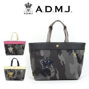 (ポイント10倍) ADMJ エーディーエムジェイ カモフラージュ柄 トートバッグ 28cm 18WS01016|womanremix