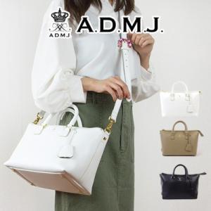 (ポイント10倍) ADMJ エーディーエムジェイ 2WAYレザートートバッグ 19AW01013|womanremix