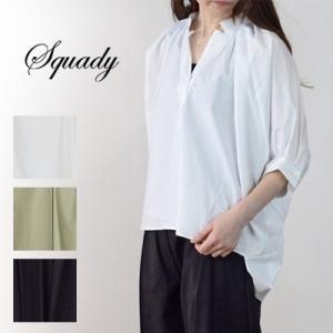 スカディ squady (スカディ) コーティングカットソーシャツ 210-1267|womanremix
