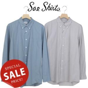 Soe Shirts ソーイシャツ 60/- BROAD CLOTH BASIC B.D COLLAR ブロードクロスベーシックボタンダウンシャツ 2153-81-007|womanremix