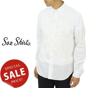 Soe Shirts ソーイシャツ CONCEALED B.D COLLAR SHIRT 60/- COTTON TYPEWRITER 'FINEST SHIRT' 隠れボタンダウンカラーシャツ タイプライター 2163-81-012|womanremix