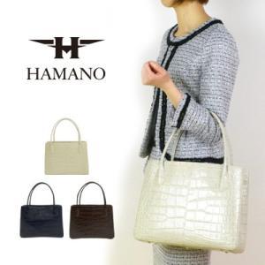 濱野皮革工藝 HAMANO ハマノ クロコ デュプレ トートバッグ 28-67562|womanremix