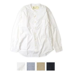 HARVESTY (ハーベスティ) タイプライターバンドカラーシャツ A31901|womanremix