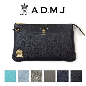 ADMJ エーディーエムジェイ SHRINKLEATHER POUCHWALLET 牛革 ポーチウォレット ACS01077|womanremix
