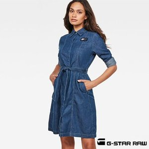 G-Star RAW ジースターロウ  シャツワンピース BRISTOM SERVICE DRESS D11321-D013|womanremix