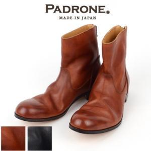 パドローネ PADRONE バックジップブーツ BACK ZIP BOOTS エドワード EDWARD NO.PU7885-1101-11C|womanremix