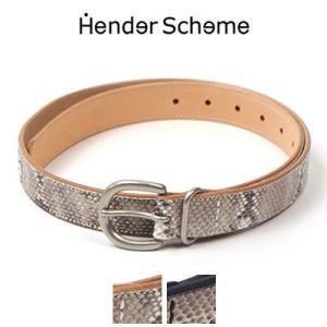 エンダースキーマ Hender Scheme パイソンタンニングベルト python tanning belt fl-rc-tnb|womanremix