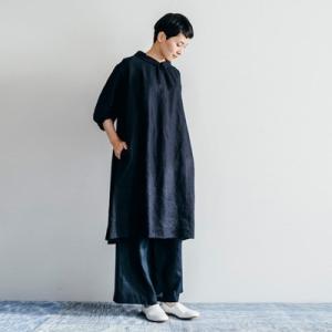 fog linen work フォグリネンワーク DORIS DRESS NAVY ドリス ワンピース ネイビーLWA089-104|womanremix