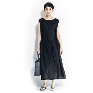 fog linen work フォグリネンワーク MALIN DRESS BLACK マーリン ワンピース ブラック LWA091-17|womanremix