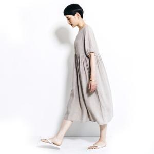 fog linen work フォグリネンワーク ANNIKA DRESS NATURAL アニカ ワンピース ナチュラル LWA110-N|womanremix