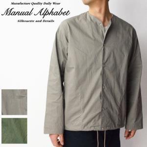 マニュアルアルファベット Manual Alphabet ツイルベースボールシャツ TWILL BB SHT MA-S-463 2019春夏|womanremix