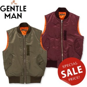 Mr.GENTLEMAN ミスタージェントルマン MA-1 VEST MG13A-VE03|womanremix