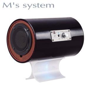 M'S System エムズシステム アンプ内蔵型波動スピーカー MS-ch307BLK シュエット! LED色 ブルー|womanremix