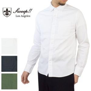 オックスフォードシャツ Sweep!! スウィープ LosAngeles,CA ロサンゼルス PIN POINT OXFORD ピンポイントオックスフォードシャツ|womanremix